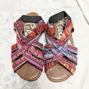 Rebels Basmati sandals, size 8